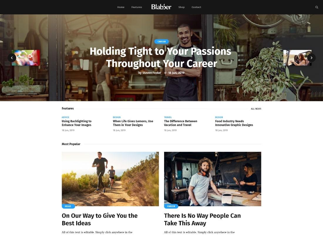blabla    Tout-en-un Elementor Blog & News Magazine Thème WordPress + RTL