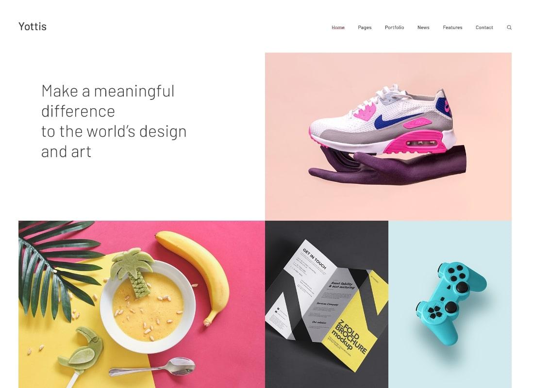 Yottis    Thème WordPress pour portfolio créatif personnel + boutique