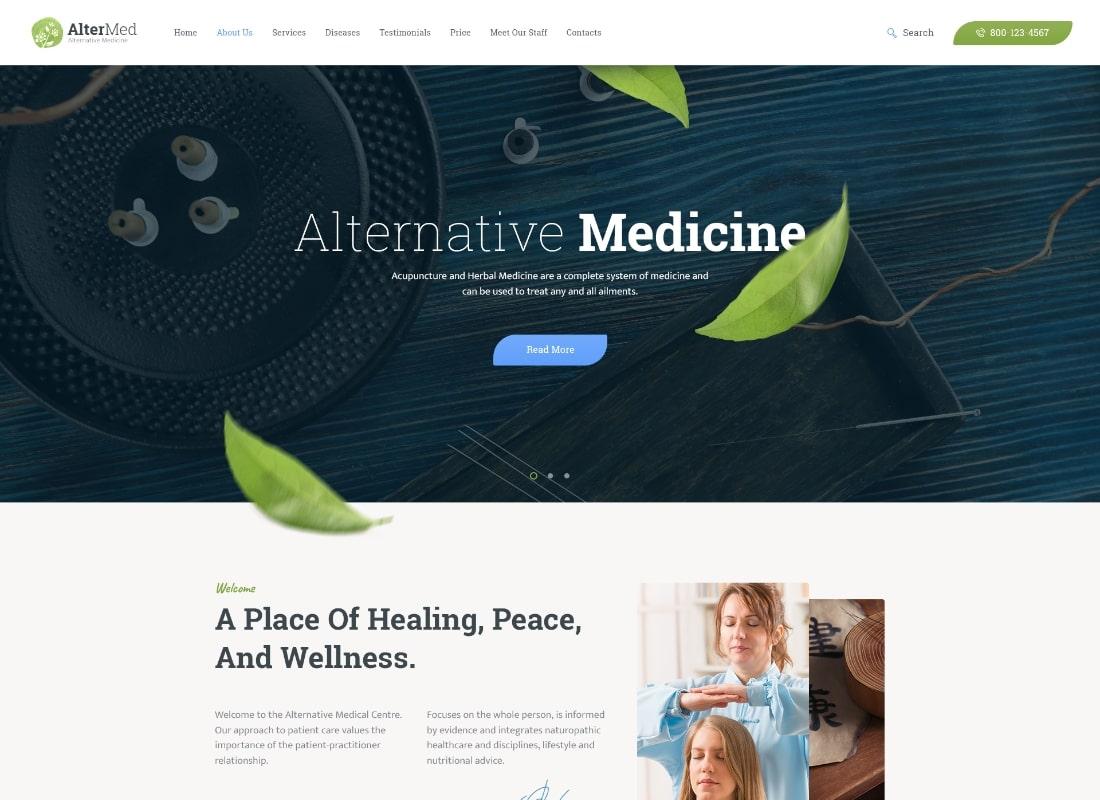 Avicenne    Thème WordPress pour docteur en médecine populaire alternative