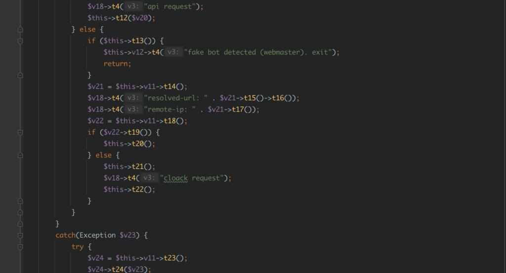 certaines fonctions dans le webshell désobscurci