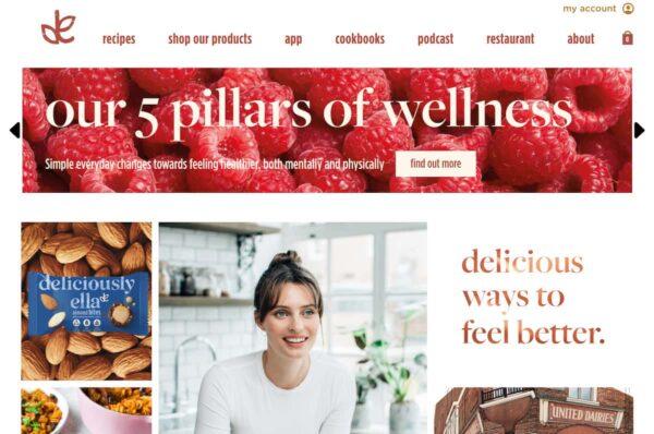exemple de blog avec un contenu original : deliciouslyella.com