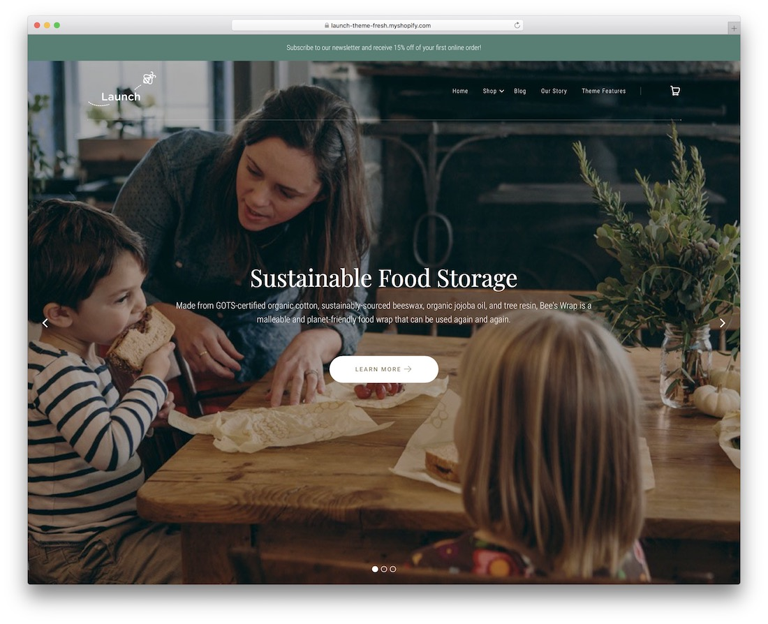 lancer le thème du restaurant shopify