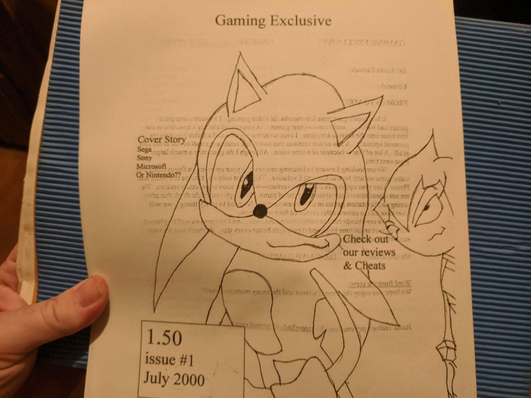 Magazine imprimé à domicile pour les jeux en juillet 2000.