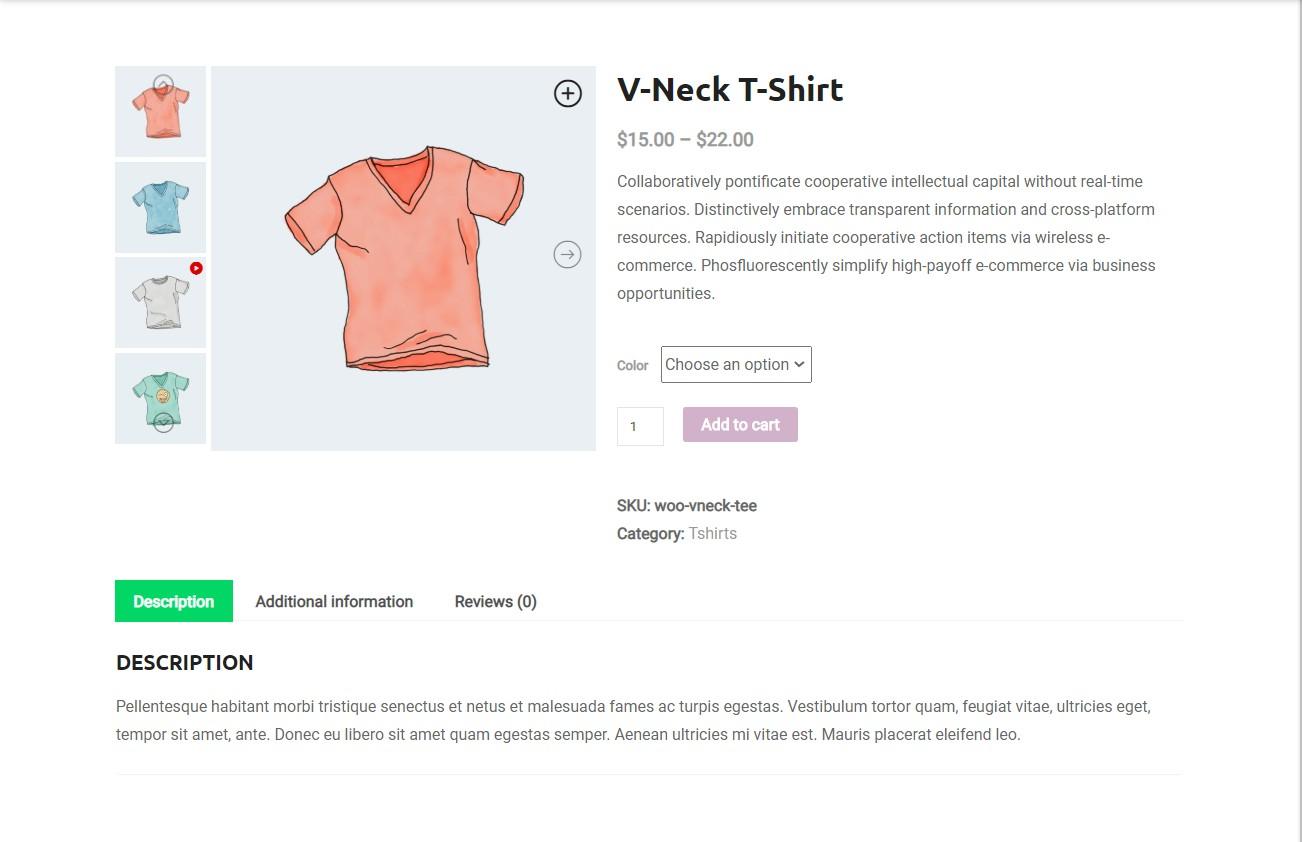 Curseur de galerie de produits WooCommerce réactif