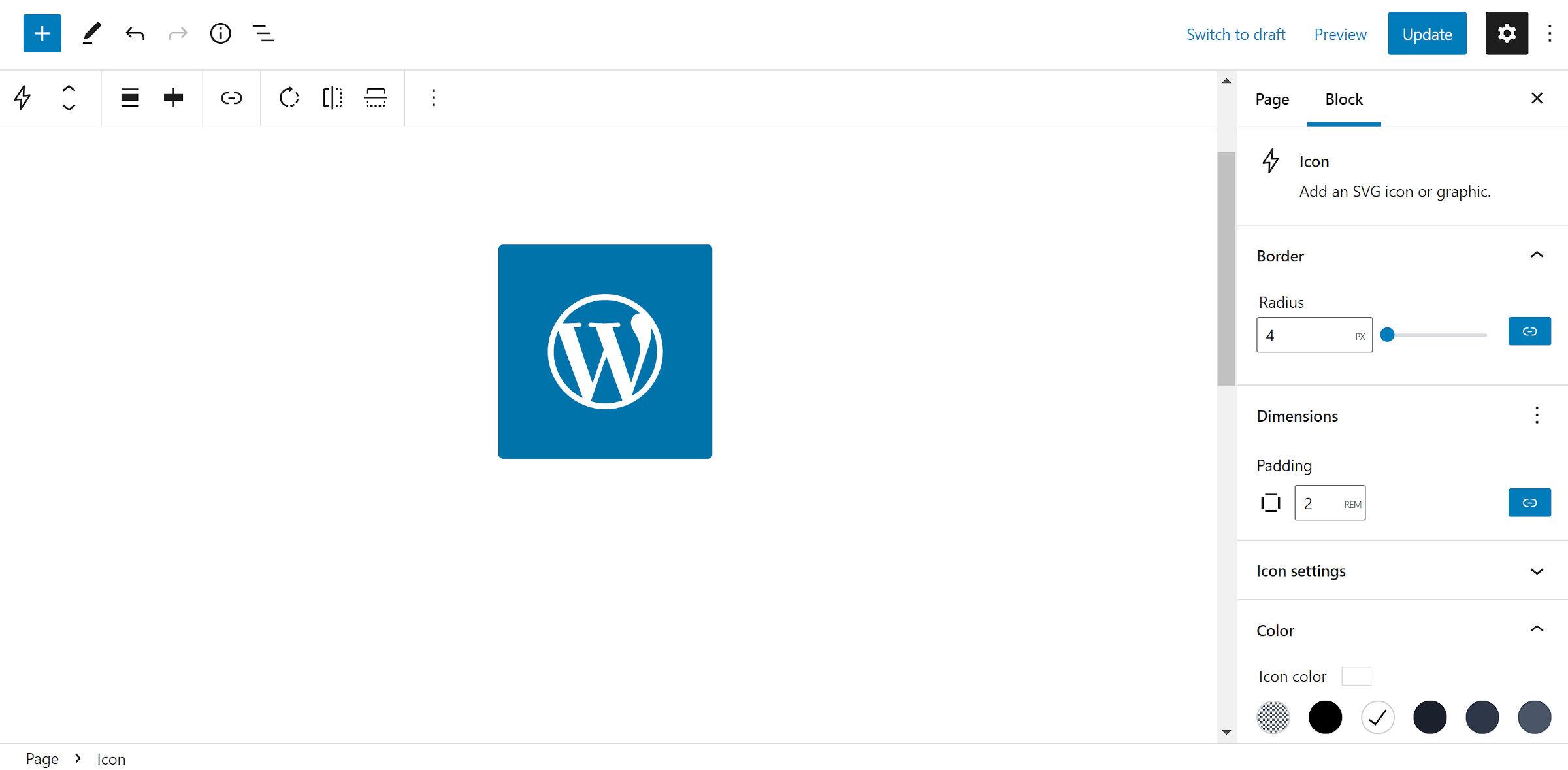 Le logo WordPress sous forme d'icône avec un fond bleu et une icône blanche.